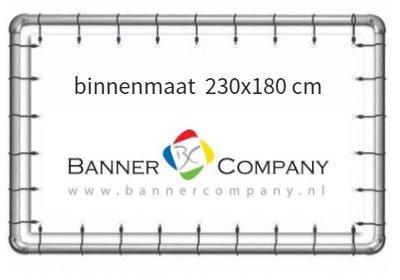 Buizenframe hangend met spandoek 230x180