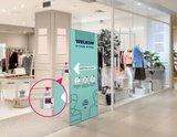 W-display Desinfectie 80x200 cm. turqoise_