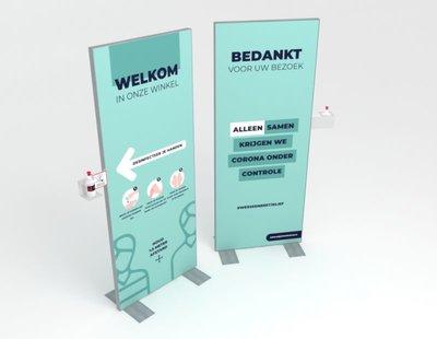 W-display Desinfectie 80x200 cm. minty