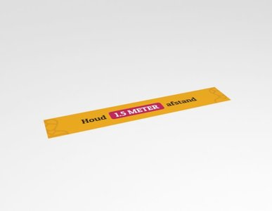 Corona sticker afstand bewaren