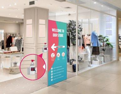 W-display Desinfectie 80x200 cm. turqoise