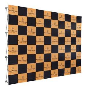 Pop-Up Fabric systeem met klittenband bevestiging